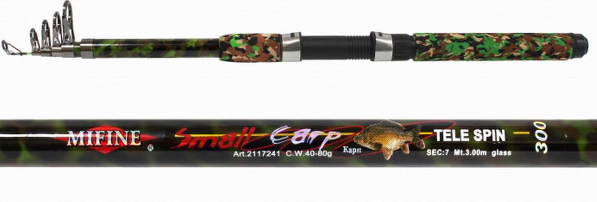 Спиннинг теле. Mifine Small Carp 2.7м / 40-80г / Камуфляж / кольца-SIC / арт 202-2706