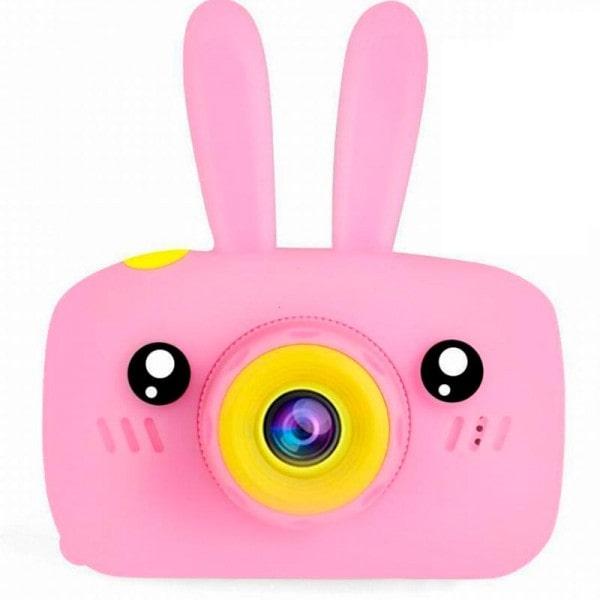 Детский цифровой фотоаппарат зайчик, цвет розовый - удобный и простой в использовании, создан специально для детей.