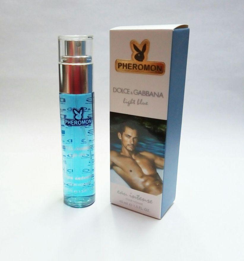 Мини-парфюм с феромонами  Dolce & Gabbana Light Blue Eau Intense Pour Homme 45ml
