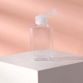 Бутылочка , 60 мл, крышка флип-топ. цвет прозрачный