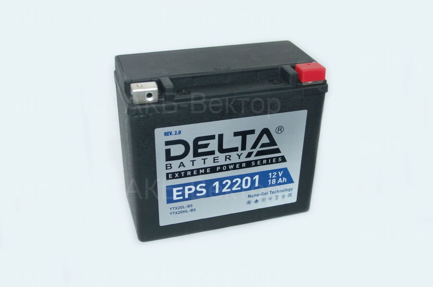 Delta EPS 12201 (18Ач 310А) YTX20L-BS