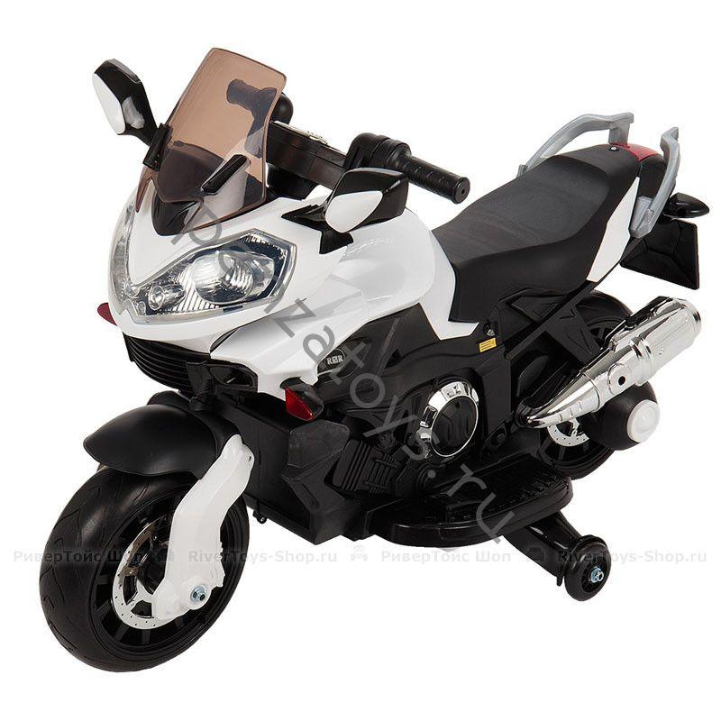 Электромотоцикл детский MOTO E222KX с приставными колесами