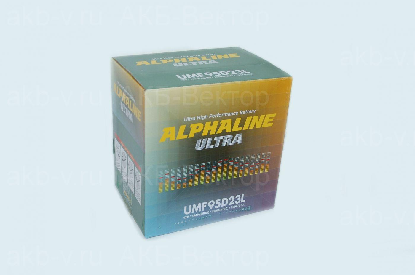 Alphaline Ultra 78Ач 750А(CCA) 95D23(L/R)