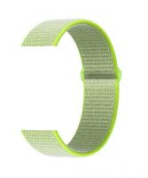 Тканевый ремешок (Липучка) для Xiaomi Amazfit Bip 20мм ( Зеленый )