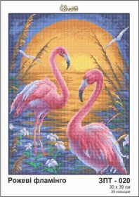 Золотая Подкова ЗПТ-020 Розовые Фламинго схема для вышивки бисером купить оптом в магазине Золотая Игла