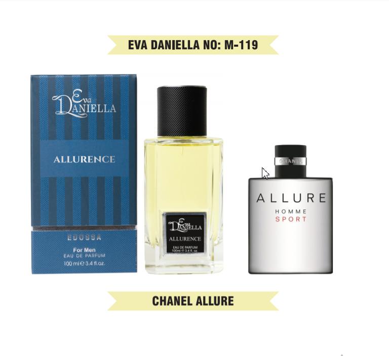 Eva Daniella № M-119-Chanel Allure Homme Sport 100 мл