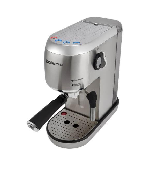 Кофеварка рожковая Polaris PCM 2001AE, серебристый