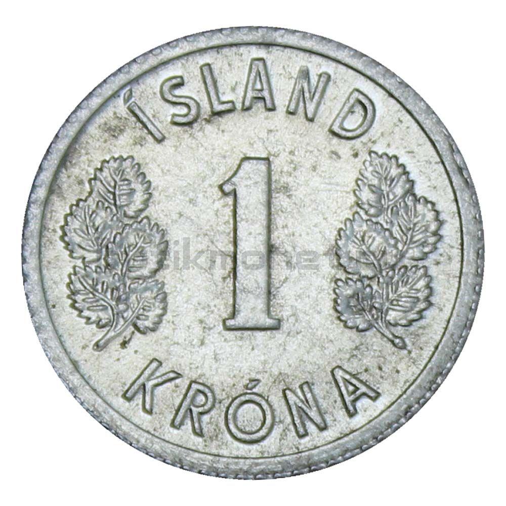 1 крона 1980 Исландия