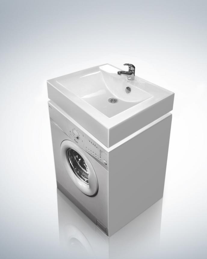 Раковина Altasan Elita UPP60 60 см над стиральной машиной