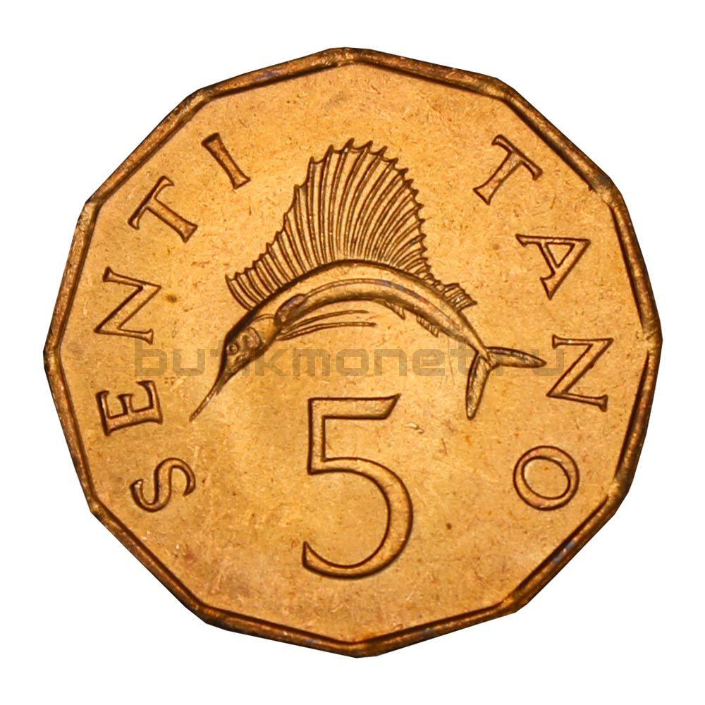 5 центов 1982 Танзания