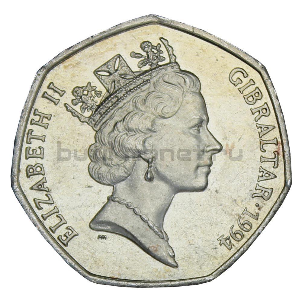50 пенсов 1994 Гибралтар Рождество