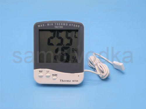 Термометр и гигрометр с щупом TA218C