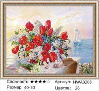Алмазная мозаика на подрамнике HWA3203, Дандорф Ольга, Букет