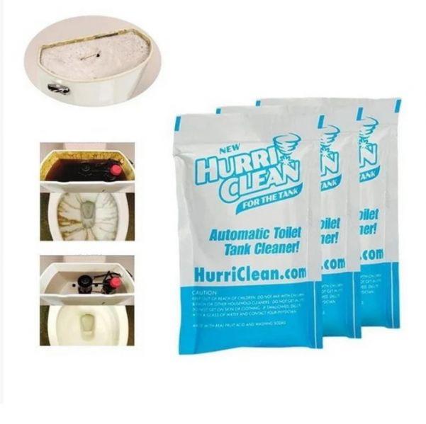 Пенящийся очиститель для унитаза Hurri Clean, 3 пакетика