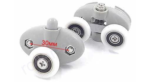Ролик для душевой кабины VH031-30 (комплект 8шт) Диаметр колеса (от 18,6 до 28мм)