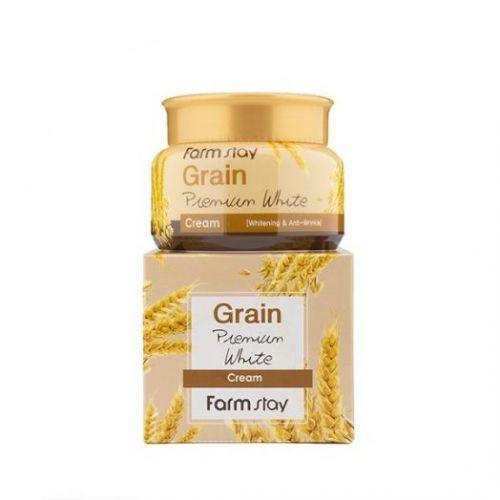 772283 FarmStay Осветляющий крем с маслом ростков пшеницы Grain Premium White Cream