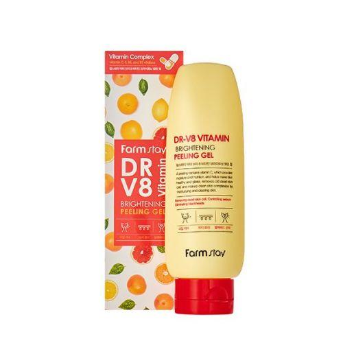 775922 FarmStay Гель с витаминным комплексом DR-V8 Vitamin Brightening Peeling Gel