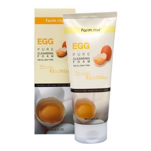 770248 FarmStay Очищающая пенка для сужения пор с яичным экстрактом Egg Pure Cleansing Foam