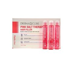 881415 FarmStay Укрепляющий филлер с розовой солью для волос DERMA СUBE Pink Salt Therapy Hair Filler