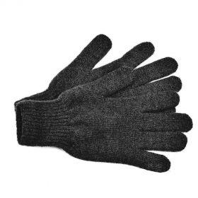 Перчатки взрослые из монгольской шерсти [Черные]