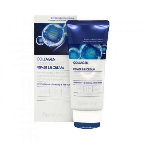 003639 FarmStay Увлажняющий ВВ-крем с коллагеном Collagen Water Full Moist Primer B.B Cream
