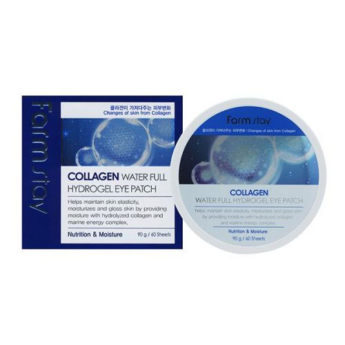 033416 FarmStay Гидрогелевые патчи с коллагеном Collagen Water Full Hydrogel Eye Patch