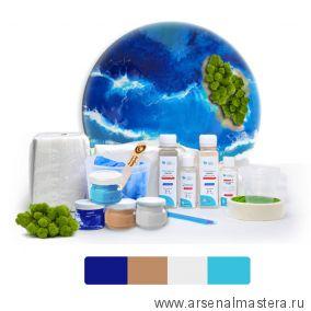 Набор N 16 для создания интерьерной картины Resin Art Начальный уровень, эпоксидная смола Honey Artline RART-030-016