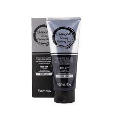 957576 FarmStay Отшелушивающий гель с углем Charcoal Toning Peeling Gel