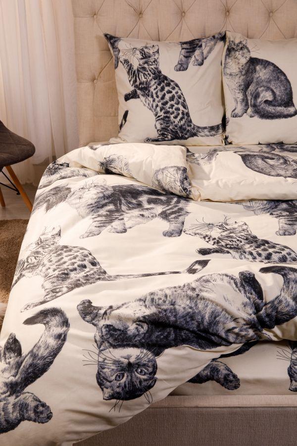 Поплин 2-х спальный [в ассортименте] Барсик постельное белье