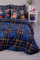Поплин 2-х спальный с евро [синий] Бонни и Клайд постельное белье