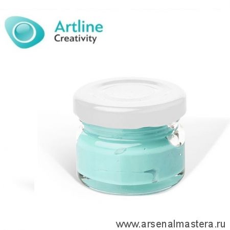 Пигментная паста для эпоксидной смолы 10 гр бело - бирюзовая  Pigment Paste Artline PST-00-010-BBZ