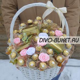 """Букет из конфет и чая №740-КЧ """"Чайная церемония"""""""
