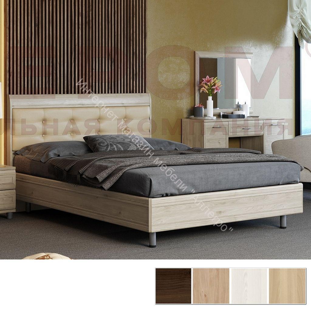 Кровать КР-2854 (1,8х2,0) с мягким изголовьем Мелисса