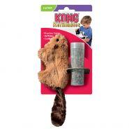 """KONG игрушка для кошек """"Бобер"""" 15 см плюш с тубом кошачьей мяты"""