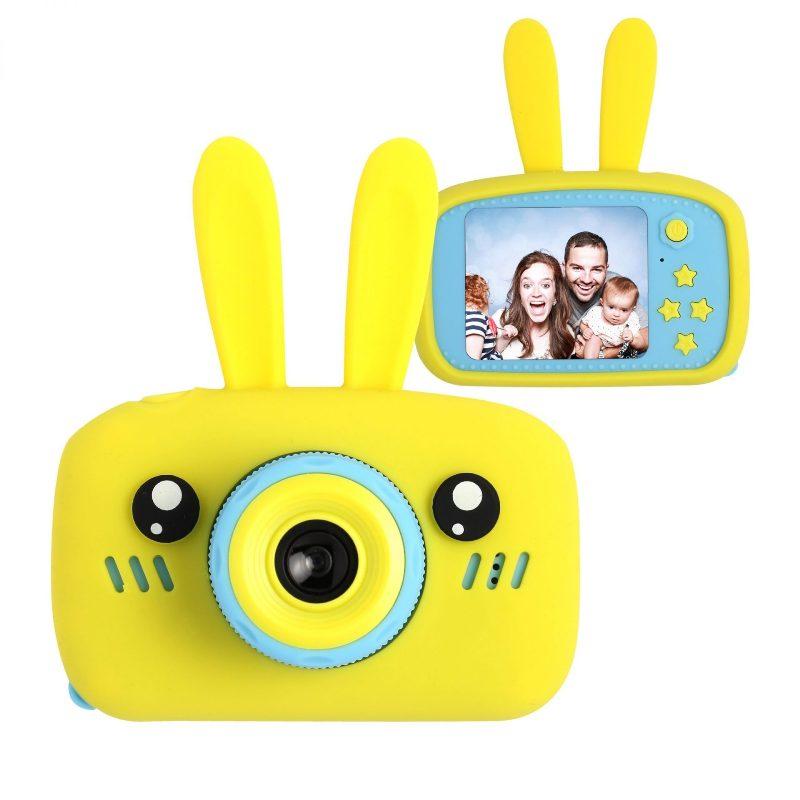 Детский цифровой фотоаппарат Зайчик, Желтый