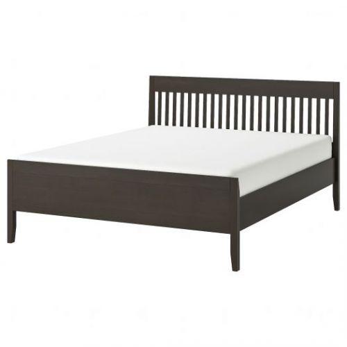 IDANAS ИДАНЭС, Каркас кровати, темно-коричневый/Леирсунд, 180x200 см - 694.065.02