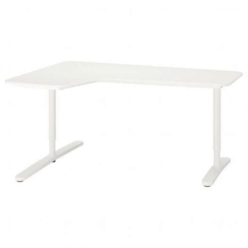 BEKANT БЕКАНТ, Углов письм стол левый, белый, 160x110 см - 292.784.55