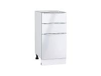 Шкаф нижний с 3-мя ящиками Фьюжн Н403 в цвете Angel