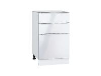 Шкаф нижний с 3-мя ящиками Фьюжн Н503 в цвете Angel
