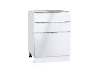 Шкаф нижний с 3-мя ящиками Фьюжн Н603 в цвете Angel