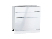 Шкаф нижний с 3-мя ящиками Фьюжн Н803 в цвете Angel
