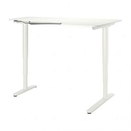 BEKANT БЕКАНТ, Углов письм стол прав/трансф, белый, 160x110 см - 492.786.66