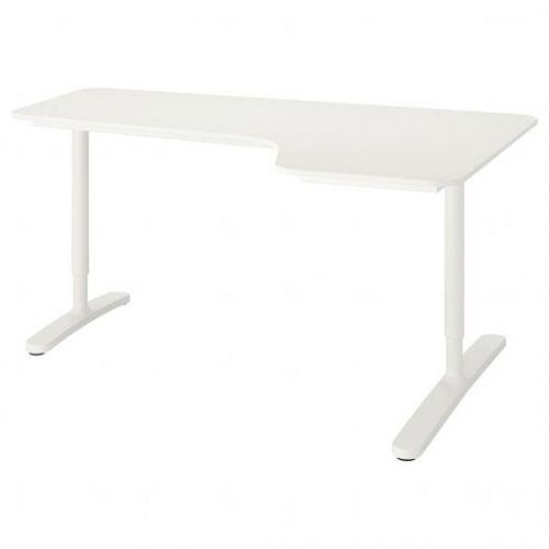 BEKANT БЕКАНТ, Углов письм стол правый, белый, 160x110 см - 492.784.59
