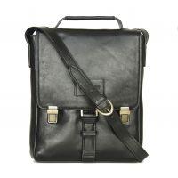 Кожаный вертикальный портфель HIDESIGN ROADSTER-01 Black