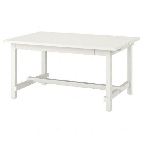 NORDVIKEN НОРДВИКЕН, Раздвижной стол, белый, 152/223x95 см - 003.696.01