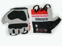 Перчатки велосипедные Материал:трикотаж, искусственная замша. Размер M.. 21224