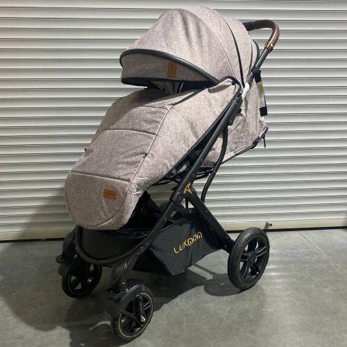 Прогулочная коляска luxmom 609 коричневая