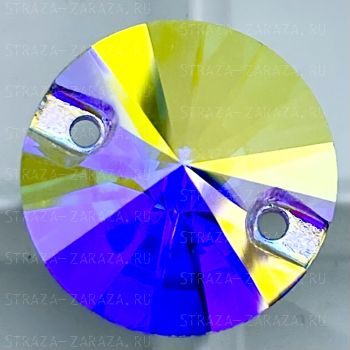 K9 Luxe Пришивные Стразы Crystal_AB Риволи 14 мм