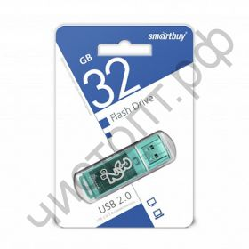 флэш-карта Smartbuy 32GB Glossy series Green зеленая