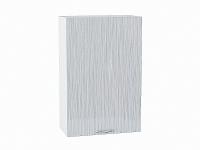 Шкаф верхний с 1-ой дверцей Валерия В609-Ф46Н в цвете серый металлик дождь
